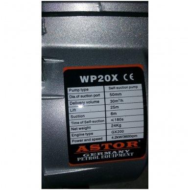 Benzininis vandens siurblys - vandens pompa Astor Wp-20x 5