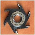 Diskinė griovelių freza BELMASH freza d10 (vidinis diametras standartinis d32) su kietmetalio galiukais
