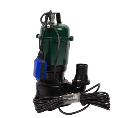 Drenažinis ketaus elektrinis vandens siurblys su plūde (purvinam vandeniui) SUPTEC SP-14P