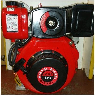 Dyzelinis variklis SUPTEC HM-178F be starterio 6aG 4