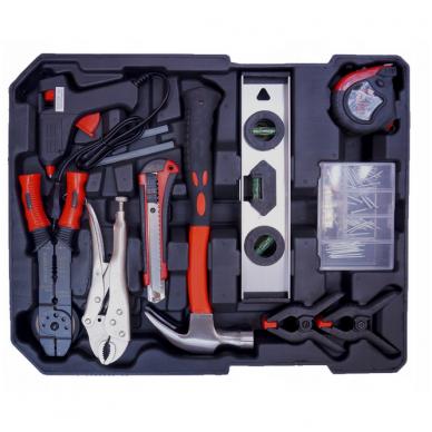 Įrankių rinkinys - lagaminas su ratukais, 187d. 3
