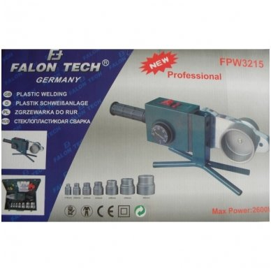 Plastikinių vamzdžių virinimo komplektas - lituoklis FALON TECH FPW3215 3