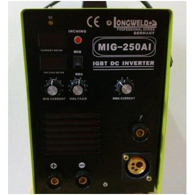 Suvirinimo pusautomatis Longweld MIG-250AI 250A 230V 2